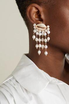 Get Glam, Diamond Earrings, Drop Earrings, Plaque, Bead Weaving, Clip On Earrings, Jewelery, Shells, Plating