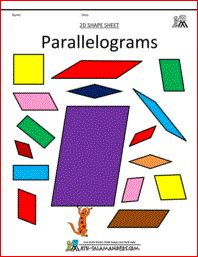 Parallelograms printables
