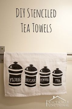 Make Your Own Stenciled Tea Towels with your Silhouette | Practically Functional