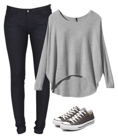 """""""Converse for Female 2"""" by sadikingani ❤ liked on Polyvore featuring Levi's, Converse and converse"""
