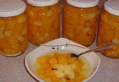 Můj dýňový kompot s ananasem Preserves, Pesto, Cantaloupe, Smoothie, Food And Drink, Cooking Recipes, Sweets, Homemade, Canning