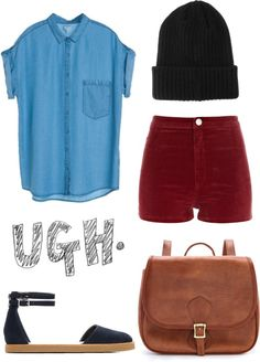 """ugh."" by i-love-daisies ❤ liked on Polyvore"
