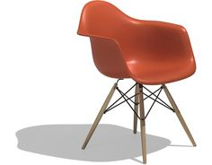 eames® molded plastic armchair - dowel leg  Design Charles & Ray Eames®, 1948  Molded plastic, solid wood dowel legs  Made by Herman Miller®