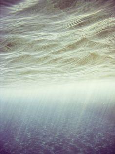 Underwater rain.