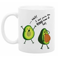 Funny Coffee Mug Funny Avocado Mug Vegetarian Gift Fitness Gift Funny... ($15) ❤ liked on Polyvore featuring home, kitchen & dining, drinkware, drink & barware, grey, home & living, mugs, personalize mugs, personalized coffee mugs and personalized drinkware