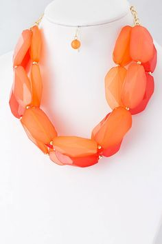 Apricot Leigh Necklace Set on Emma Stine Limited
