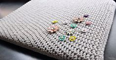 Laptops are expensive, so we love the idea of crocheting our own laptop sleeve to help protect it.