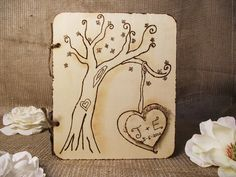 Wedding Guest Book Wood Rustic Chic Wedding by breezemountain8, $38.99