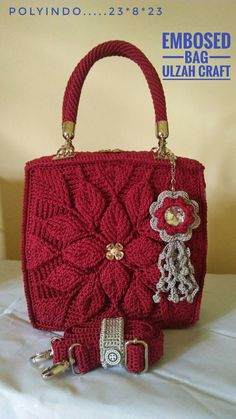 Ideas Crochet Purse And Bags Ganchillo Crotchet Stitches, Crochet Shell Stitch, Crochet Motif, Crochet Baby, Crochet Handbags, Crochet Purses, Crochet Hat For Women, Crochet Leaves, Crochet World