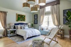 Elise Som's bedroom in the 2015 Traditional Home Hamptons Designer Showhouse