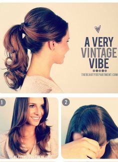Tutorial: A Very Vintage Vibe - Hairstyle Step By Step - Click the image for the Tutorial