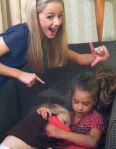 Chloe, Clara, and Mackenzie....LOL Chloe has her L bacwards
