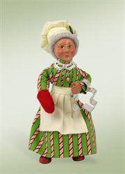 "Kindles ""Baking Mrs. Claus"" Baker Bendable Poseable Christmas Figure"