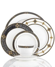 Lenox Dinnerware, Vintage Jewel Collection - Lenox Fine China - Dining & Entertaining - Macy's Bridal and Wedding Registry This is beautiful!