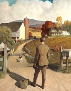 Newell Convers Wyeth (American artist and illustrator) 1882 - 1945 The Homecoming, 1945 Jamie Wyeth, Andrew Wyeth, Illustrator, Nc Wyeth, American Artists, Oeuvre D'art, Les Oeuvres, Painting & Drawing, Art Gallery