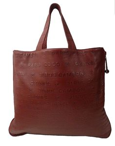 chanel paris coco 31 rue cambo burgundy leather large tote bag 2850
