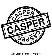 caucho, estampilla,  Casper