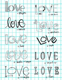 More lettering fun:) Hand Lettering Alphabet, Doodle Lettering, Creative Lettering, Lettering Styles, Calligraphy Letters, Brush Lettering, Typography, Love Caligraphy, Writing Styles Fonts