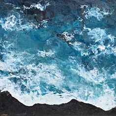 The Endless Sea, encaustic seascape painting by Lee Anne LaForge | Effusion Art Gallery + Cast Glass Studio, Invermere BC Bear Paintings, Cute Paintings, Seascape Paintings, Landscape Paintings, Cast Glass, Canadian Artists, Painted Doors, Winter Landscape, Art Gallery