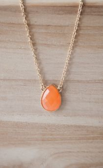 Orange Gum Drop Necklace