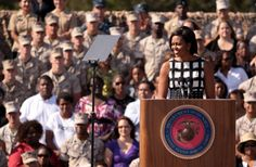 A website 'Q Political' posted an article on 17th December 2015 with a title that 'When Michelle Obama Challenged a Marine, His Response Was Brutally Honest'. This post also added some sentences with baseless claim and a confusing photograph.