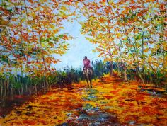 Lone Rider by Mary Ann Day, Oil on canvas Canvas Frame, Oil On Canvas, Paul Bennett, London United Kingdom, Painting People, Lovers Art, Impressionism, Lonely, Ann