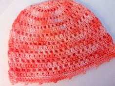 Slouchy summer beanie hat, cotton, coral, pink, festival, resort, beach hat, travel, resort, street, casual,boho, crochet cap, women, girls