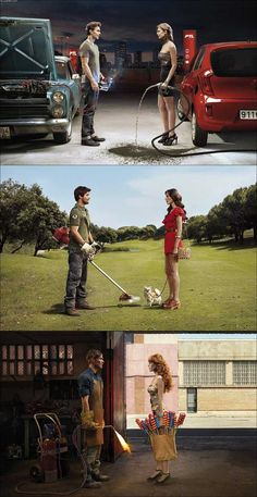 Jean-Yves Lemoigne is an advertising photographer from France. His advertising work does not look like classic advertising and it's super creative and well executed earning him many awards over the years.