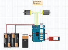 Schematic for Bluetooth Arduino RC Car
