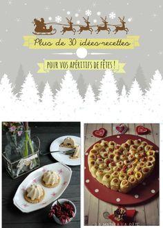 Allez aujourd'hui je vous fait part d'idées recettes piochéessur le blog à réaliser pour vos apéritifs de fin d'année. Comme la semaine dernière, il n'y a qu'à cliquer sur les titres des recettes pour y accéder. Dôme de foie gras, gelée au porto  Verrines de miettes de surimi aux noix de cajou  Smögarstarta étoiles apéritives aux pistaches : coeur feuilleté aux petites saucisses : Panna cotta au foie gras et compotée pommes figues Cappucino de petit pois à la menthe Une envolée de…