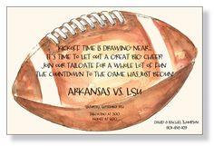 Big Football Invitation from The Inviting Company