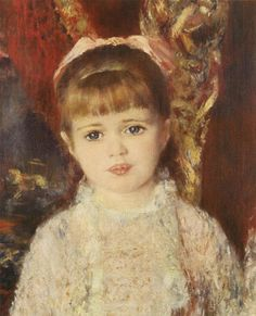 "Auguste Renoir ""Girl from pink and blue"" http://mondialart.co.uk"