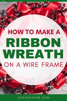 You can use ribbon wreaths for doors and fireplaces for decoration. The most common method of making a DIY ribbon wreath is by using a wireframe by supporting the ribbon. Know this step by step tutorial for how to make a ribbon wreath on wire frame to decorate your door during Christmas or Halloween. #diy #decor #homehacks #diyhacks
