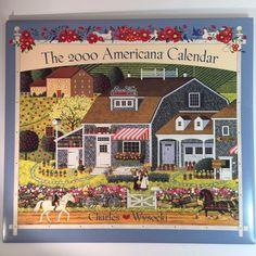 Charles Wysocki Calendar Art Prints Americana Quilters New England Farms 2000