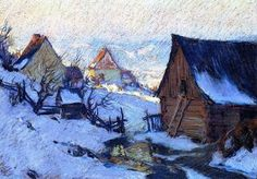 Spring Thaw, Baie-saint-paul Artwork By Clarence Gagnon Oil Painting & Art Prints On Canvas For Sale Dora Carrington, Vanessa Bell, Quebec, Clarence Gagnon, Virginia Wolf, Canadian Painters, Canadian Artists, Of Montreal, Art Prints For Sale