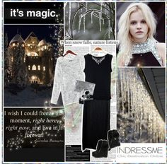 """The White Queen walks and the night grows pale"" by aniael ❤ liked on Polyvore"
