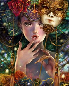 Art by Schin Loong  Saw this on DA years ago, it has always been one of my favorite pieces of #Masquerade art