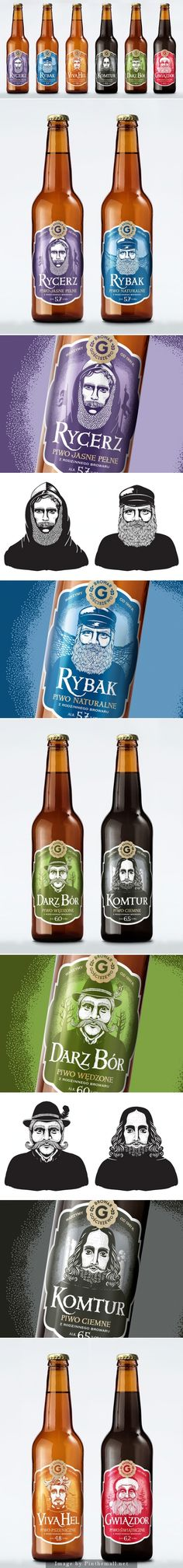 The Characters by Gościszewo #Brewery #packaging by Ostecx Créative - http://www.packagingoftheworld.com/2014/11/the-characters-by-gosciszewo-brewery.html