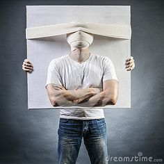 Photo about Male holds the canvas with the portrait of a man with bandaged face. Image of crazy, fantasy, amusing - 26288490 Fantasy, Stock Photos, Portrait, Face, Headshot Photography, Portrait Paintings, The Face, Fantasy Books, Fantasia