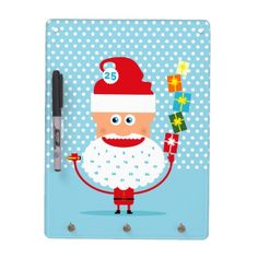 Santa Claus with presents  and advent calendar Dry-Erase Board