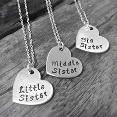 Sister Necklace, Matching Little Sister Middle Sister and Bi... Baby Accessories