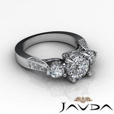 Unique Three Stone Round Cut Diamond Engagement Ring EGL E VS2 Platinum 2 2 Ct   eBay