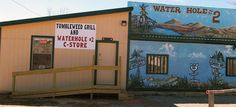 The Tumbleweeds Grill is located in Texola, Oklahoma, in the world famous Water Hole #2 building and is the oldest operating restaurant on Route 66.