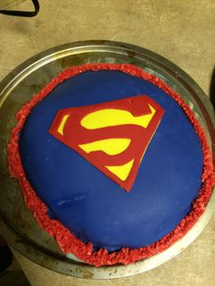 Tres leches super man cake made by Maria Alonso