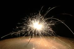 My own version of the snow sparkler (Photo by Mary Richards)