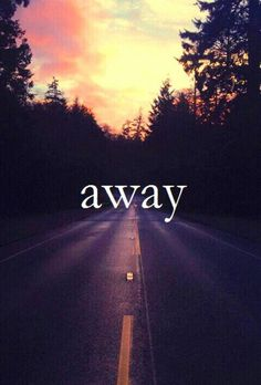 Away is always a happiness!