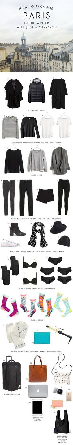 How to Pack for Paris in the Winter with Just a Carry-On Bag | Oh Happy Day! | Bloglovin'
