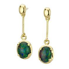 AUSTRALIA OPAL - Opal Earrings (E4500GB), $188.00 (http://www.australiaopal.com.au/opal-earrings-e4500gb/)
