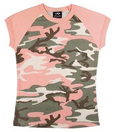 b199c1ab634ec Womens Camouflage T-Shirts Subdued Pink Camo