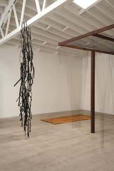 Artist: Leonor Antunes  Venue: Marc Foxx, Los Angeles  Exhibition Title: assembled, moved, re-arranged and scrapped continuously  Date: April 7 – May 12, 2012